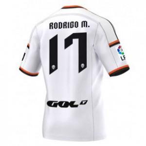 Camiseta del Rodrigo Valencia Primera Equipacion 2014/2015