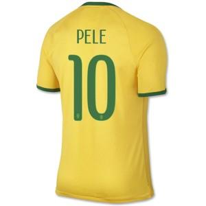 Camiseta del Pele Brasil de la Seleccion Primera WC2014