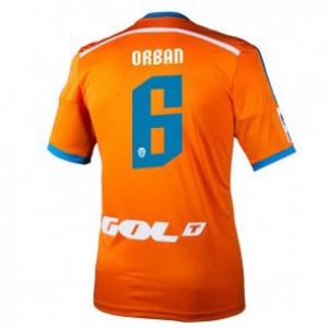 Camiseta nueva del Valencia 2014/2015 Equipacion Lucas Orban Segunda