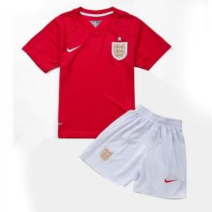 Camiseta nueva del Inglaterra de la Seleccion WC2014 Nino Segunda