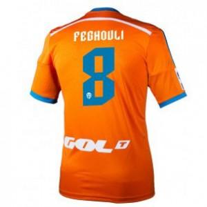 Camiseta Valencia Sofiane Feghouli Segunda Equipacion 2014/2015