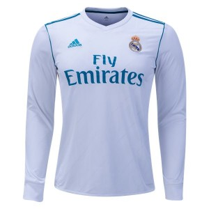 Camiseta nueva Real Madrid Long Sleeve Home 2017/2018
