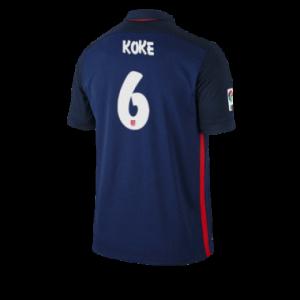 Camiseta nueva Atletico Madrid KOKE Equipacion Segunda 2015/2016