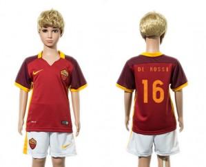 Camiseta nueva del AS Roma 2015/2016 16 Ninos