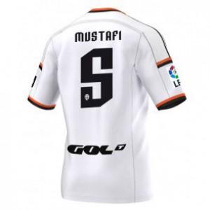 Camiseta nueva Valencia Shkodran Mustafi Equipacion Primera 2014/2015