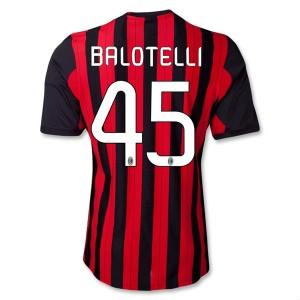 Camiseta nueva del AC Milan 2013/2014 Equipacion Balotelli Primera