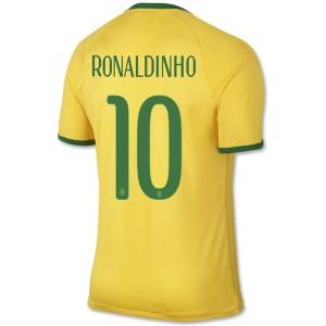 Camiseta de Brasil de la Seleccion WC2014 Primera Ronaldinho