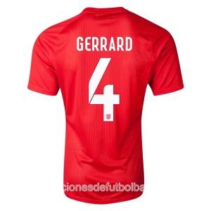 Camiseta del Gerrard Inglaterra de la Seleccion Segunda WC2014