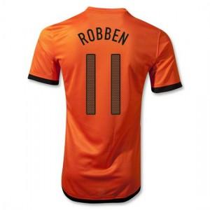 Camiseta Holanda de la Seleccion Robben Primera 2012/2014