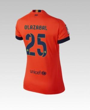 Camiseta nueva del Barcelona 2014/2015 Bartra Segunda