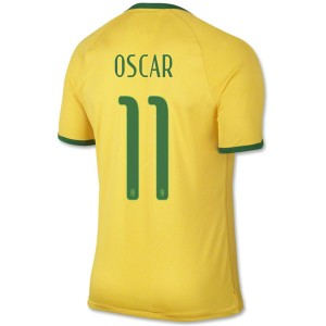 Camiseta de Brasil de la Seleccion WC2014 Primera Oscar