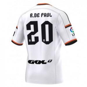 Camiseta nueva Valencia Rodrigo Paul Equipacion Primera 2014/2015