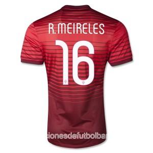 Camiseta nueva Portugal de la Seleccion R.Meireles Primera 2013/2014