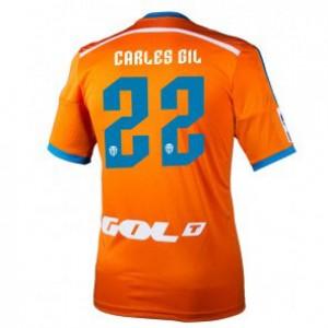 Camiseta de Valencia 2014/2015 Segunda Carles Gil Equipacion