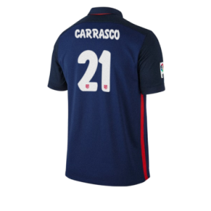 Camiseta Atletico Madrid CARRASCO Segunda Equipacion 2015/2016