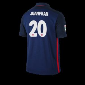Camiseta Atletico Madrid JUANFRAN Segunda Equipacion 2015/2016