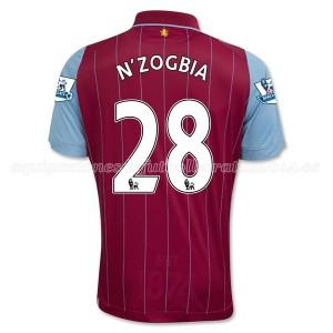 Camiseta del N_Zogbia Aston Villa Primera Equipacion 2014/15