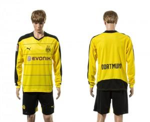 Camiseta del Dortmund Primera Manga Larga 15/16