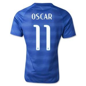 Camiseta Brasil de la Seleccion Oscar Segunda WC2014