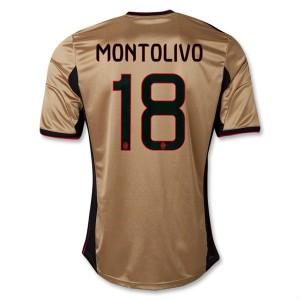 Camiseta nueva del AC Milan 2013/2014 Equipacion Montolivo Tercera