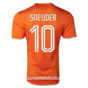 Camiseta Holanda de la Seleccion Sneijder Primera WC2014
