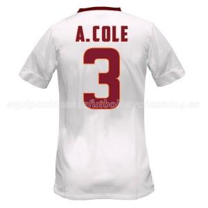 Camiseta nueva AS Roma A.Cole Equipacion Segunda 2014/2015