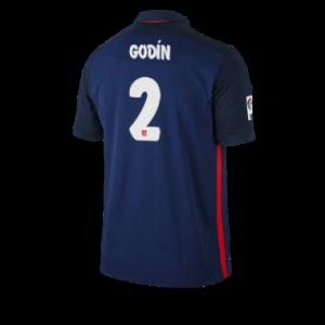 Camiseta Atletico Madrid GODIN Segunda Equipacion 2015/2016
