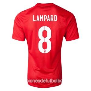 Camiseta de Inglaterra de la Seleccion WC2014 Segunda Lampard