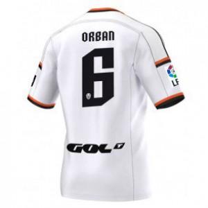 Camiseta de Valencia 2014/2015 Primera Lucas Orban Equipacion