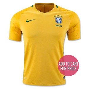 Camiseta nueva del Brasil 2016 Home