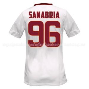 Camiseta del Sanabria AS Roma Segunda Equipacion 2014/2015