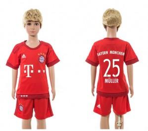 Camiseta nueva del Bayern Munich 2015/2016 25 Ninos Home