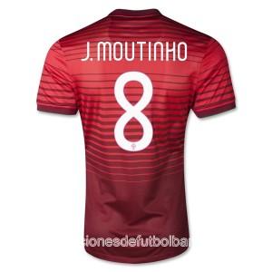 Camiseta nueva Portugal de la Seleccion J Moutinho Primera 2013/2014