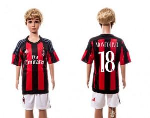 Camiseta de AC Milan 2015/2016 Home #18 Ninos