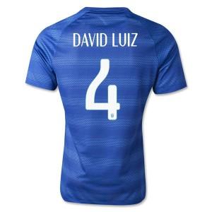 Camiseta nueva Brasil de la Seleccion David Luiz Segunda WC2014