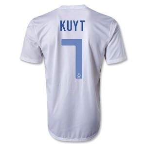 Camiseta del Kuyt Holanda Segunda 2013/2014
