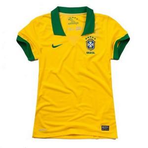 Camiseta nueva Brasil de la Seleccion Mujer Primera 2013/2014
