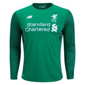 Camiseta nueva del Liverpool 2017/2018 Long Sleeve Goalkeeper Home