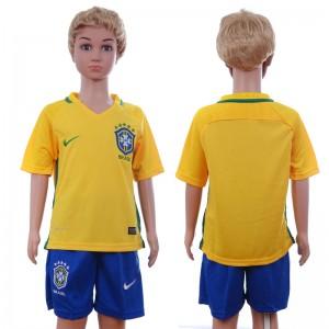 Camiseta nueva del Brasil 2016/2017 Ninos