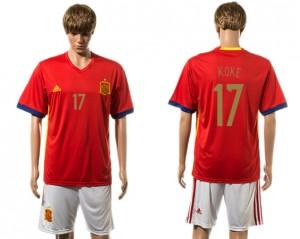 Camiseta de España 2015-2016 17#