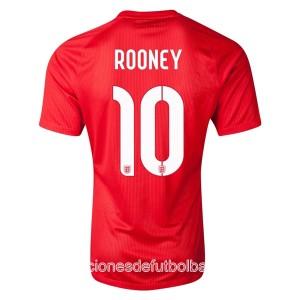 Camiseta nueva Inglaterra de la Seleccion Rooney Segunda WC2014