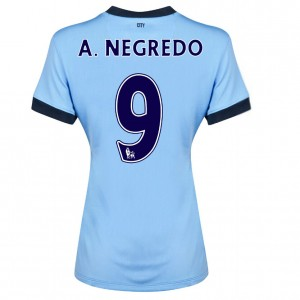 Camiseta nueva Manchester City Dzeko Tercera 2013/2014