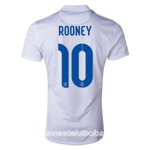 Camiseta nueva Inglaterra de la Seleccion Rooney Primera WC2014