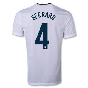 Camiseta Inglaterra de la Seleccion Gerrard Primera 2013/2014