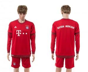 Camiseta nueva del Bayern Munich 15/16 Manga Larga Primera