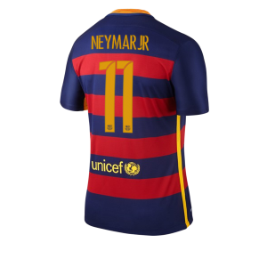 Camiseta del Numero 11 NEYMAR Barcelona Primera Equipacion 2015/2016
