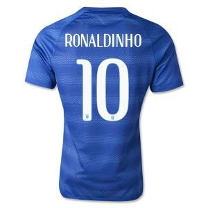 Camiseta de Brasil de la Seleccion WC2014 Segunda Ronaldinho