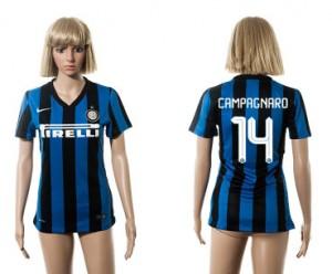 Mujer Camiseta del 14 Inter Milan 2015/2016