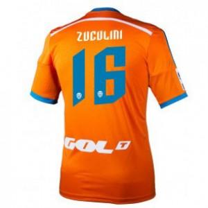 Camiseta Valencia Bruno Zuculini Segunda Equipacion 2014/2015