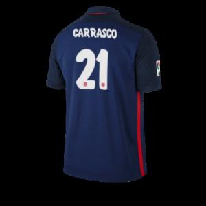 Camiseta Atletico Madrid CARRASCO Segunda Equipacion 2015/2016